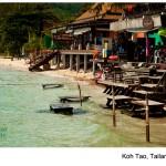 Koh Tao, rajska wyspa, knajpki na pla¿y, Tailandia 2013