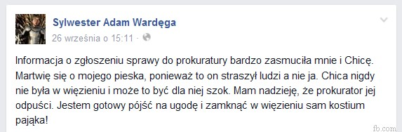 Wardęga - post