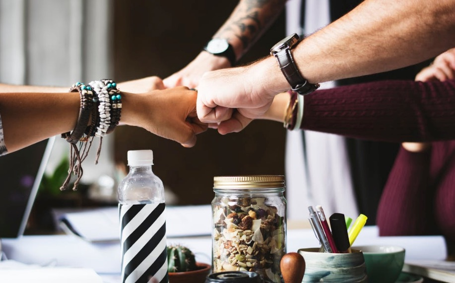Free_stock_photo_of_colleagues__cooperation__fist_bump