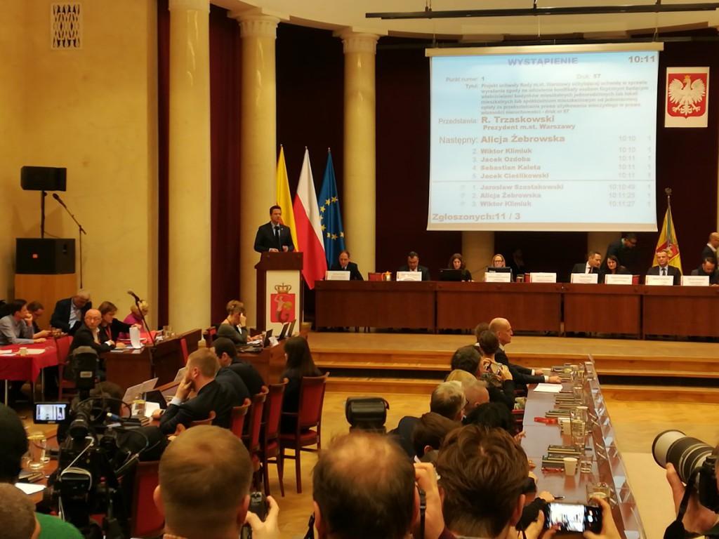Sesja Rady Warszawy rabatowa 2