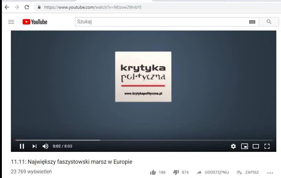 Krytyka Polityczna 11 listopada największy faszystowski marsz w Europie